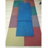Цветная резиновая плитка 500х500х40 мм