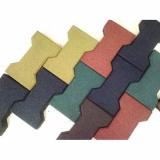 Цветная резиновая брусчатка Катушка 40 мм